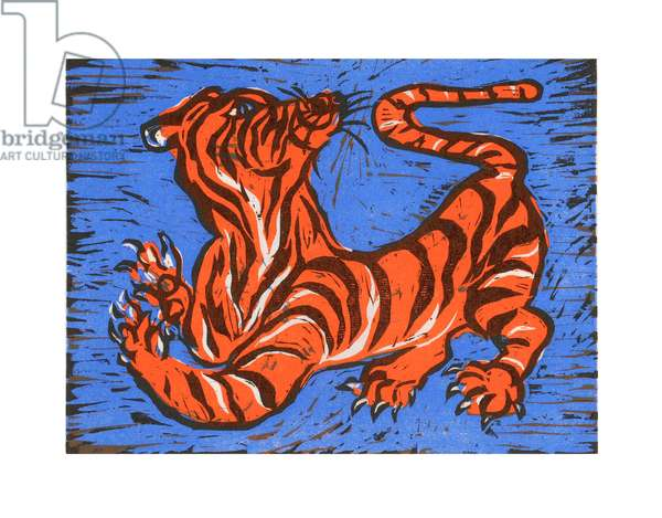 Tiger, Tiger, 2007 (woodcut on Japanese paper)