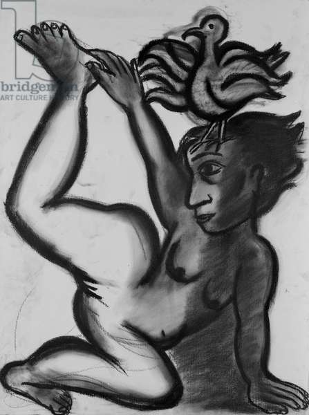 Mysteries, 1989 (charcoal on paper)