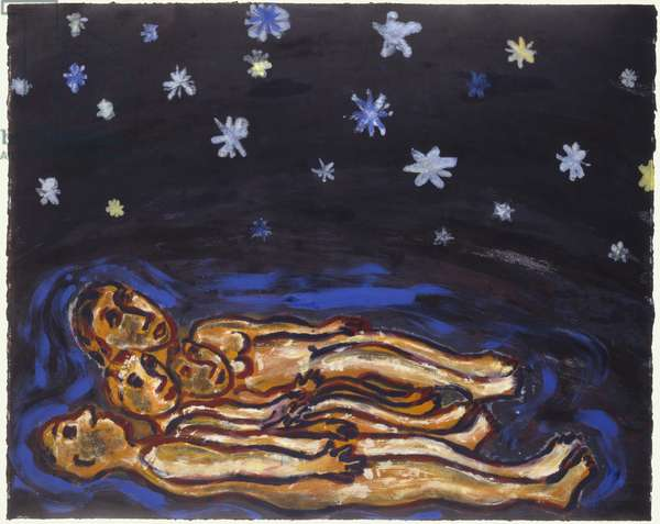 Stargazing, 1991 (monoprint)