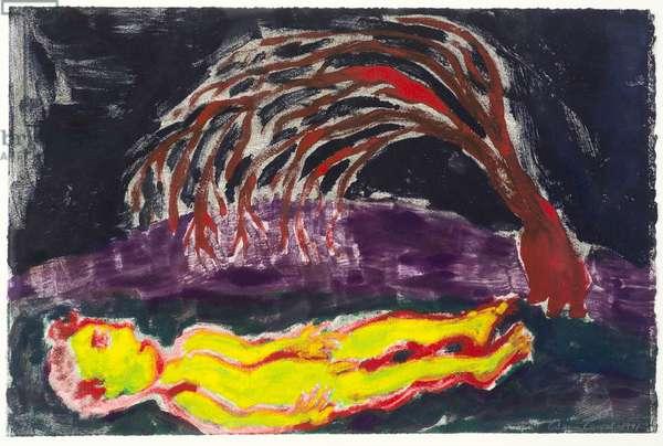 Whispering Tree, 1991 (monoprint)