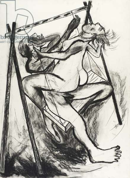 Higher and Higher IV, 1982 (charcoal on paper)
