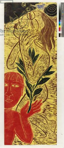 Obsession, 1996 (woodcut on Japanese paper)