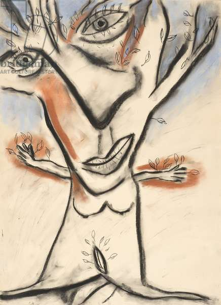 The Sad Tree, 1983 (conté, charcoal and pastel on paper)