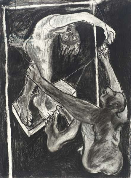 Higher and Higher V, 1982 (charcoal on paper)