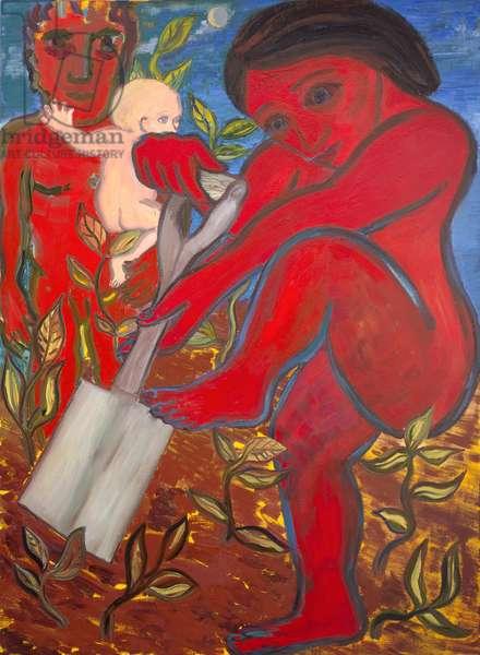 The Gardener, 1987 (oil on canvas)