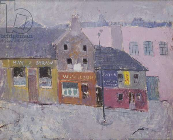 Causewayside, Edinburgh, c.1950 (oil on canvas)