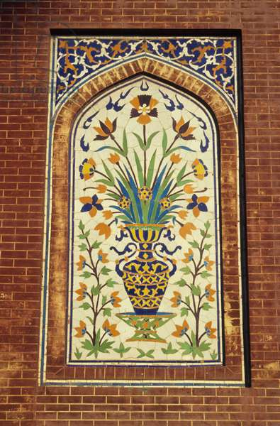 Glazed tile mosaic, c.1634-35 (faience)
