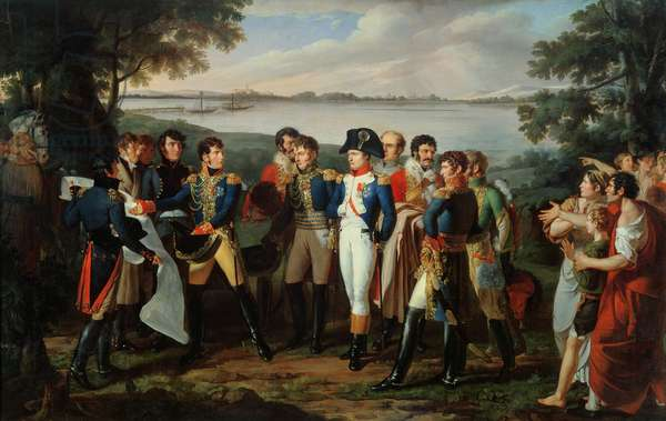 Napoleon (1769-1821) Orders the River Danube to be Bridged at Ebersdorf in order to Reach the Island of Lobau on 19th May 1809 (oil on canvas)