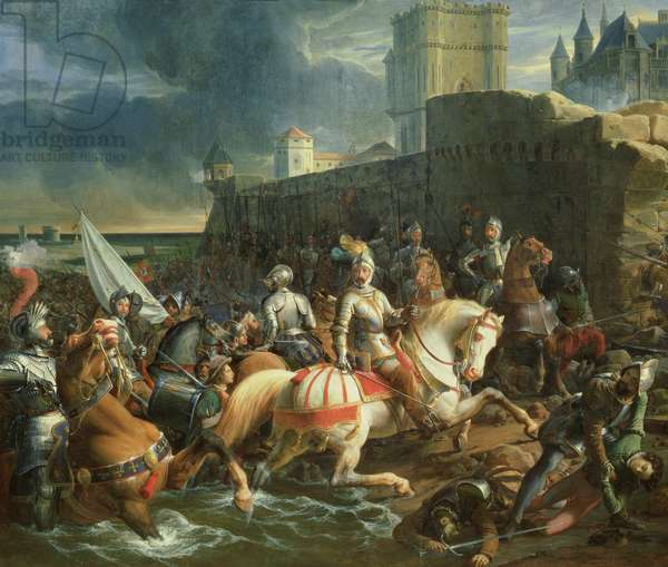The Taking of Calais by Francis, 2nd Duke of Guise (1519-63) on 9th January 1558 (oil on canvas)