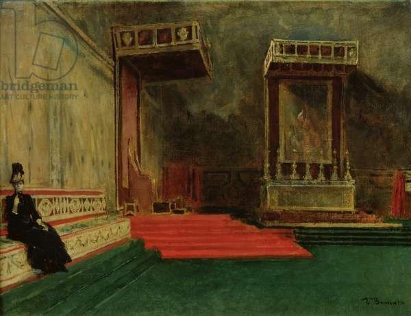 Interior of the Sistine Chapel, Rome (oil on canvas)