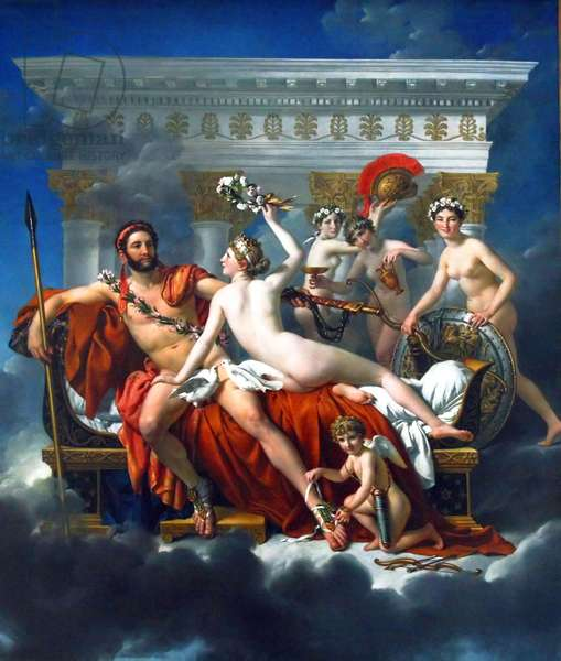 Mars Disarmed by Venus and The Three Graces, 1824 (oil on canvas)