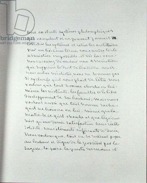 Manuscript page from 'Pantheon des Illustrations francaises au XIXeme siecle' (pen & ink on paper)