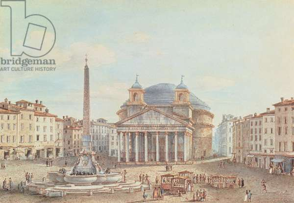 View of the Pantheon, Rome (w/c on paper)