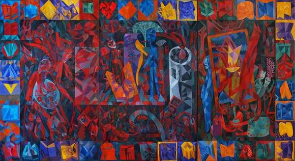 The University, 1991 (oil on canvas)