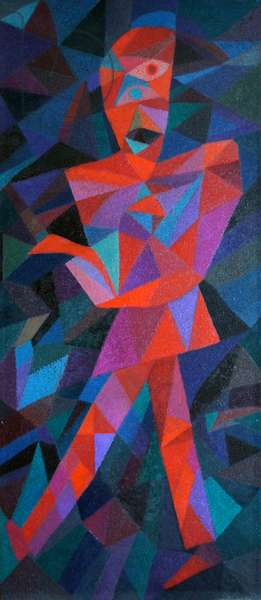 Split Tree Warrior 1, 1991 (oil on canvas)