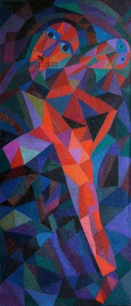 Split Tree Warrior 2, 1991 (oil on canvas)