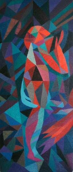 Split Tree Warrior 3, 1991 (oil on canvas)