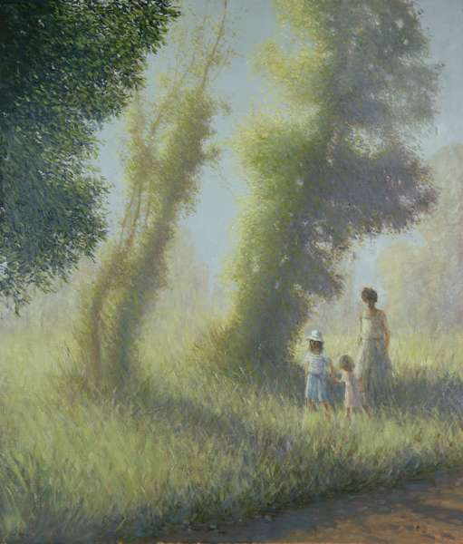 The Meadow, Charente (oil on canvas)
