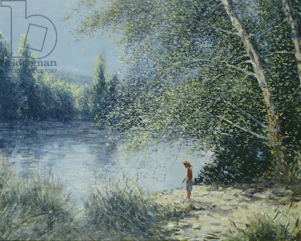 The River Bank, Lucy (oil on canvas)