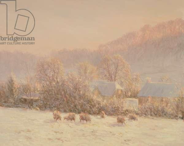 Winter Pasture (oil on canvas)