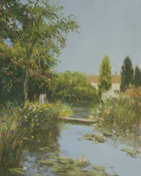 Wisley, Afternoon Light (oil on canvas)