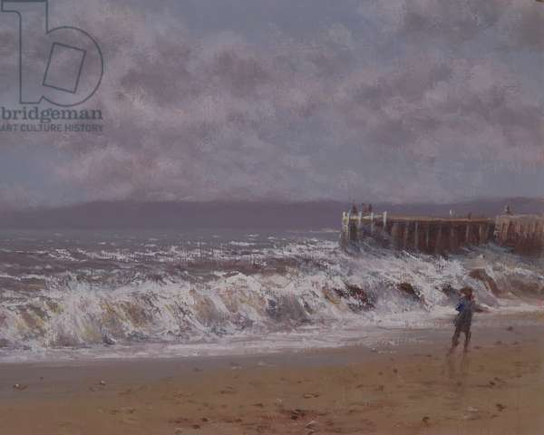 Breaking Waves (oil on canvas)