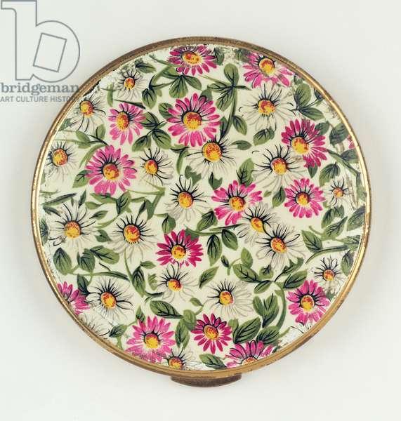 Daisy Powder Compact, 1950s (enamel)
