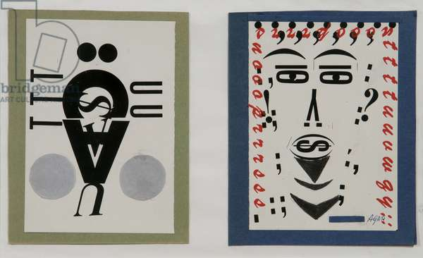 Untitled (Money Men Collage), (collage on paper)