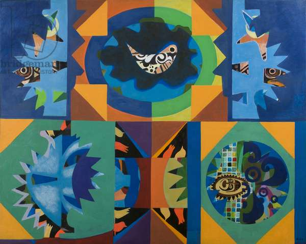 Bird Song, 1982 (acrylic on canvas)