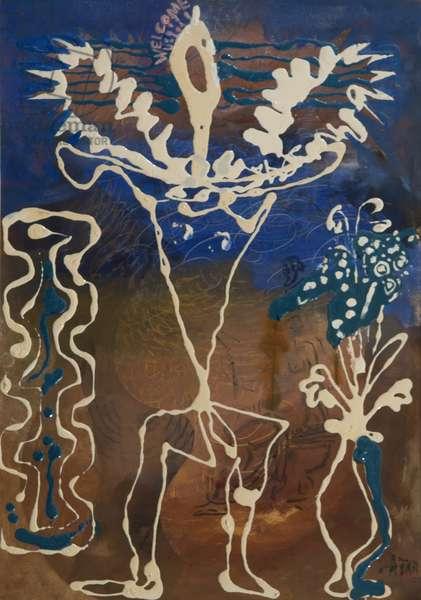 Welcome, 1964 (acrylic on canvas)