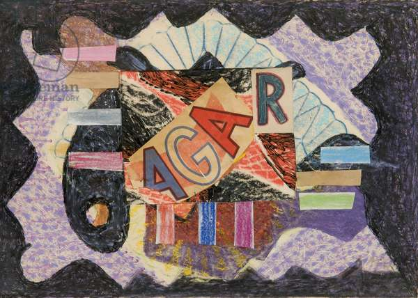 Initials, 1960 (collage on paper)