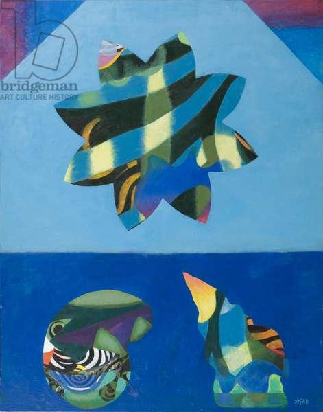 Flower in Flight, 1975 (acrylic on canvas)
