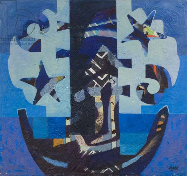 In the Ocean, 1975 (acrylic on canvas)