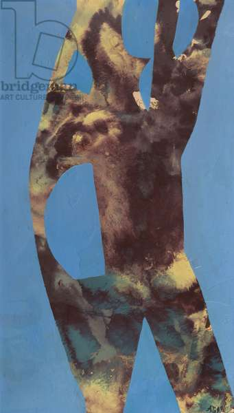 Tree Torso 4, c.1960s (lacquer & acrylic on card)