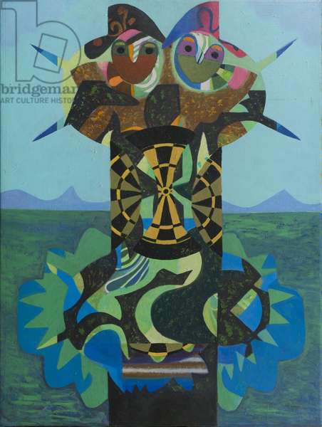 Couple in a Landscape, 1981 (acrylic on canvas)