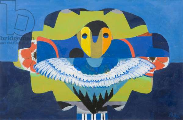 Wings of a Child, 1983 (acrylic on canvas)
