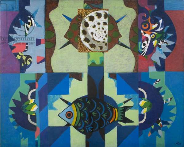The Fish's Tale, 1979 (acrylic on canvas)