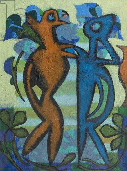 Encounter (Sylvanus), 1966 (oil on canvas)