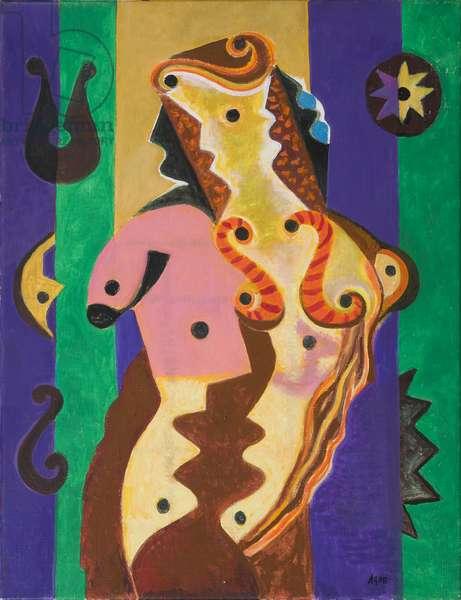 Instrumental Nude, 1981 (acrylic on canvas)