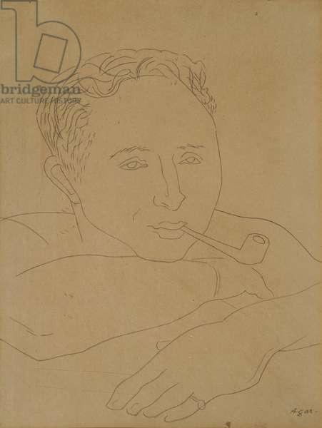 Hugh Mackintosh, (pencil on paper)