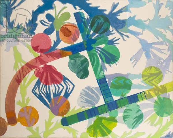 Summer Garden, 1966 (acrylic on canvas)