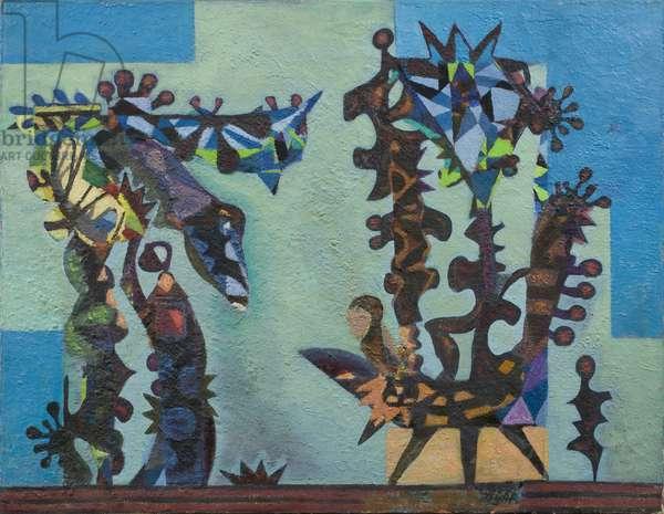Musical Garden (Spiky), 1952 (acrylic on canvas)