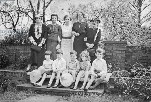 Family Group (b/w photo)