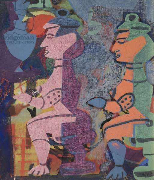 Tribal Figures, 1938 (oil on canvas)