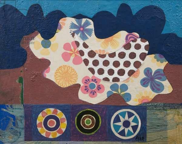 Wheels, 1972 (acrylic on canvas)