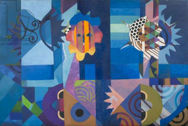 Mystery of Meeting,  The, 1979 (acrylic on canvas)