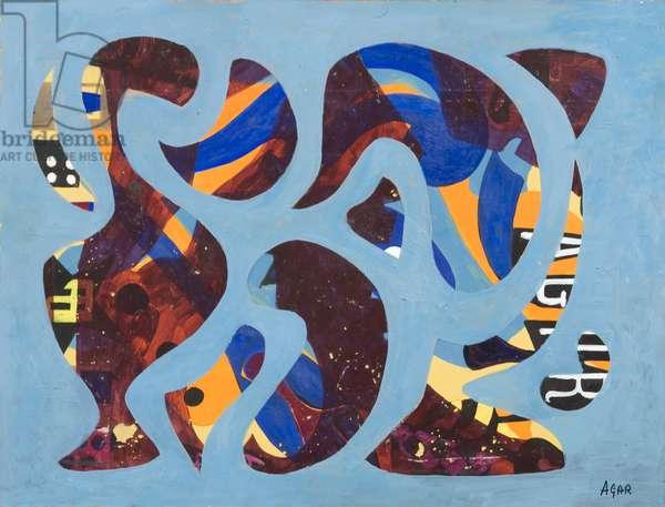 Intermingling, 1972 (acrylic on canvas)