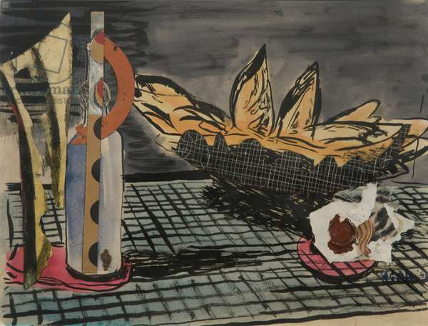 Bread Basket, 1943 (collage & mixed media on paper)