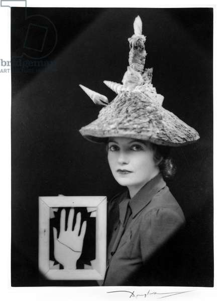 Ceremonial Hat for Eating Bouillabaisse, 1936 (b/w photo)