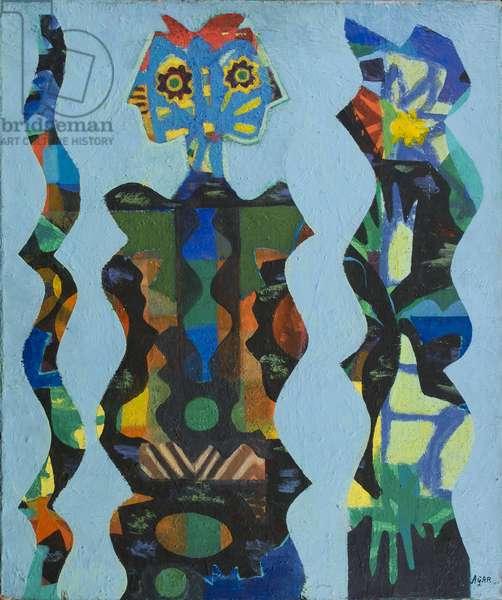 Three Figures, 1965 (acrylic on canvas)
